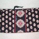 Vera Bradley Classic Black Medium Bow Cosmetic bag   make-up case.  NWT Retired
