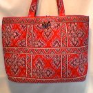 Vera Bradley Large Tic Tac Tote Frankly Scarlet overnight weekend diaper bag  Retired NWT XL carryon