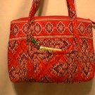 Vera Bradley Little Betsy Frankly Scarlet NWT Retired shoulder bag handbag tablet e-reader tote