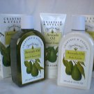 Crabtree Evelyn Avocado Oil Trio - Bath Gel  Lotion  Hand Cream Tote  RARE Boxed versions GIFT