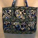 Vera Bradley Large Tic Tac Tote Mediterranean Blue • overnight weekend diaper bag XL   Retired NWT