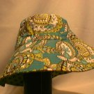 Vera Bradley Crusher Sun  Bucket Hat Peacock   Reversible   Retired - New