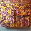 Vera Bradley Tall Zip Tote laptop commuter diaper shoulder pocket Tote Bali Gold Retired NWT