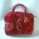 Vera Bradley Purse Cosmetic bag  Mesa Red  makeup travel case  NWT Retired FS