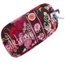 Vera Bradley Double Eye soft eyeglass case Mod Floral Pink  •  NWT Retired FS