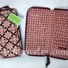 Vera Bradley Travel Organizer zip around passport wallet clutch Medallion brown • NWT Retired