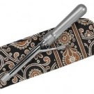 Vera Bradley Curling Iron Cover Caffe Latte • travel flatiron  curling brush NWT Retired FS