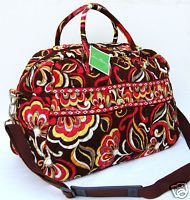 Vera Bradley Weekender Puccini  carry-on satchel overnighter NWT Retired