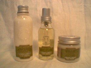 Le Couvent Verbena Lemon Trio Lotion, Splash, Cream sorbet  Bath Body Works L occitane
