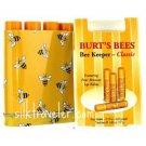 Burts Bees Keeper CLASSIC 4pc Lip Balm Tin X3 beeswax lip balm = 12 tubes