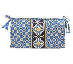 Vera Bradley Medium Bow Cosmetic bag  - Riviera Blue  makeup  toiletry case  NWT Retired