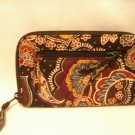 Vera Bradley Zip Around Wallet travel organizer Kensington • wristlet clutch • NWT Retired