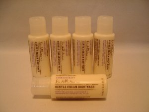 Crabtree Evelyn Creamy Body Wash 1.7 oz. X5 Lavender  Aromatherapy Distillations TRAVEL X5