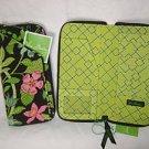 Vera Bradley Travel Organizer zip around passport wallet clutch Botanica -  NWT Retired