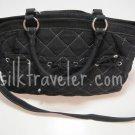 Vera Bradley Tie Front Satchel Microfiber Black handbag crossbody purse VHTF Retired