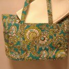 Vera Bradley Diaper Bag Peacock • baby bag carryall overnight weekend XL tote  Retired VHTF NWT