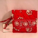 Vera Bradley Pocket Wallet  Red Bandana VHTF Retired NWT  coin purse ID case tri-fold