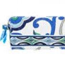 Vera Bradley Small Cosmetic bag Mediterranean White   make-up bag  toiletry travel case NWT Retired