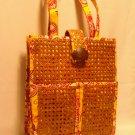 Vera Bradley Tiki Tote basketweave beach bag Bali Gold  purse laptop rattan wicker - NWT retired