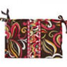Vera Bradley Large Bow Cosmetic Puccini   make-up bag travel cosmetic case  NWT  Retired