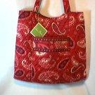 Vera Bradley Curvy Tote Mesa Red - shopper knitting bag  magazine purse   Retired NWT