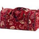 Vera Bradley Small Duffel Mesa Red   gym bag duffle overnight weekend  NWT