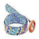 Vera Bradley Reversible Belt in Capri Blue FS  NWT Retired   hatband sash