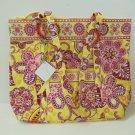 Vera Bradley Villager XL tote Bali Gold   purse  beachbag Retired NWT HTF
