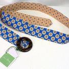 Vera Bradley Reversible Belt in Riviera Blue   NWT Retired  hatband  sash