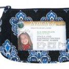 Vera Bradley Clip Zip ID Case Calypso  coin gym wallet  NWT htf