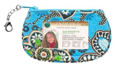Vera Bradley Clip Zip ID Case Bali Blue  coin card gym wallet  NWT Retired