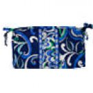 Vera Bradley Medium Bow Cosmetic bag Mediterranean Blue   make-up case  NWT Retired