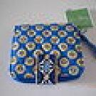 Vera Bradley Mini Zip Wallet Riviera Blue NWT Retired • coin ID zip-around