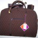 Vera Bradley Commuter Bag Microfiber Espresso brown laptop case metro tote  Retired NWT