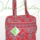 Vera Bradley Tall Zip Tote Frankly Scarlet perfect pocket  laptop tablet carryon diaper  NWT Retired