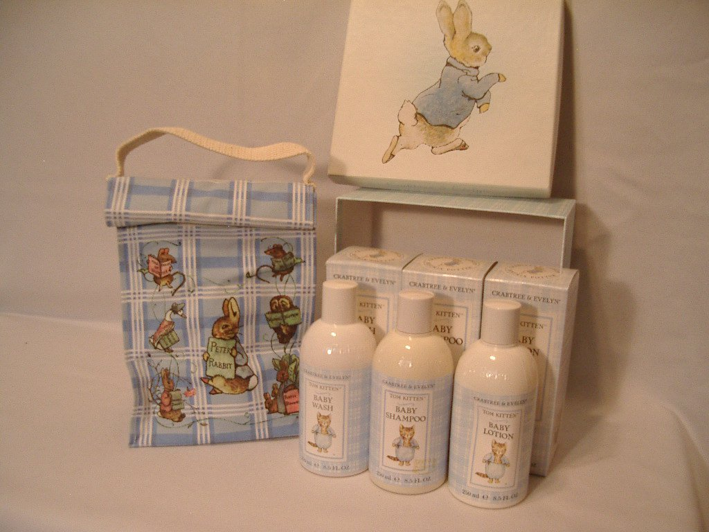Crabtree Evelyn Tom Kitten Gift Box Baby Wash Shampoo