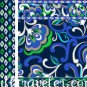 Small Cosmetic Vera Bradley Mediterranean Blue   make-up bag, toiletry case NWT