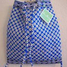Vera Bradley Backsack Riviera Blue backpack tote laundry bag drawstring tablet case  NWT Retired