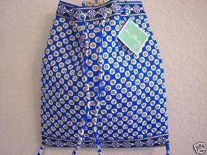 Vera Bradley Backsack Riviera Blue backpack tote laundry bag drawstring tablet case  NWT Retired