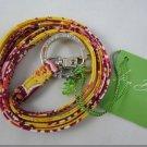 Vera Bradley Lanyard ID badge holder keyring necklace in Bali Gold  NWT retired FS