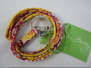 Vera Bradley Lanyard ID badge holder keyring necklace in Bali Gold  NWT retired FS