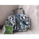 Vera Bradley Katie Mediterranean White  travel cosmetic tech case small purse NWT Retired