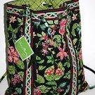 Vera Bradley Backsack backpack Botanica NWT Retired  laundry drawstring bag