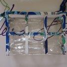 Vera Bradley Transparent Travel Pouch Mediterranean White  Retired  NWT cosmetic  case TSA 3-1-1 FS