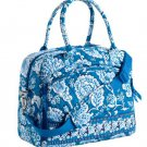 Vera Bradley Metropolitan weekender carryon laptop commuter case Blue Lagoon  • NWT Retired