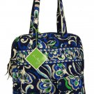 Vera Bradley Tall Zip Tote Mediterranean Blue laptop commuter carryon pocket case NWT Retired
