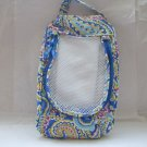 Vera Bradley Shoe Bag in Capri Blue  travel packing case  Retired NWOT