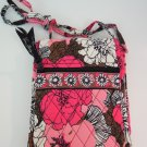 Vera Bradley Mini Hipster crossbody shoulder organizer bag Mocha Rouge Retired NWT wallet on string
