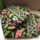 Vera Bradley Large Duffel travel bag Botanica  Retired overnight weekend carryon satchel