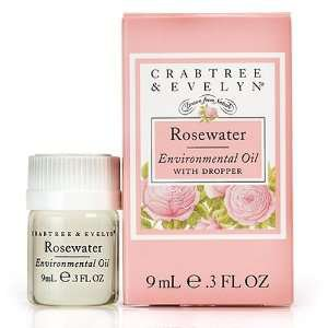 Crabtree Evelyn Rosewater Environmental Oil  Home Fragrance diffuser oil with dropper FS